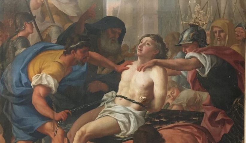"RESTAURATION DU TABLEAU ""LE MARTYR DE SAINT LAURENT"""