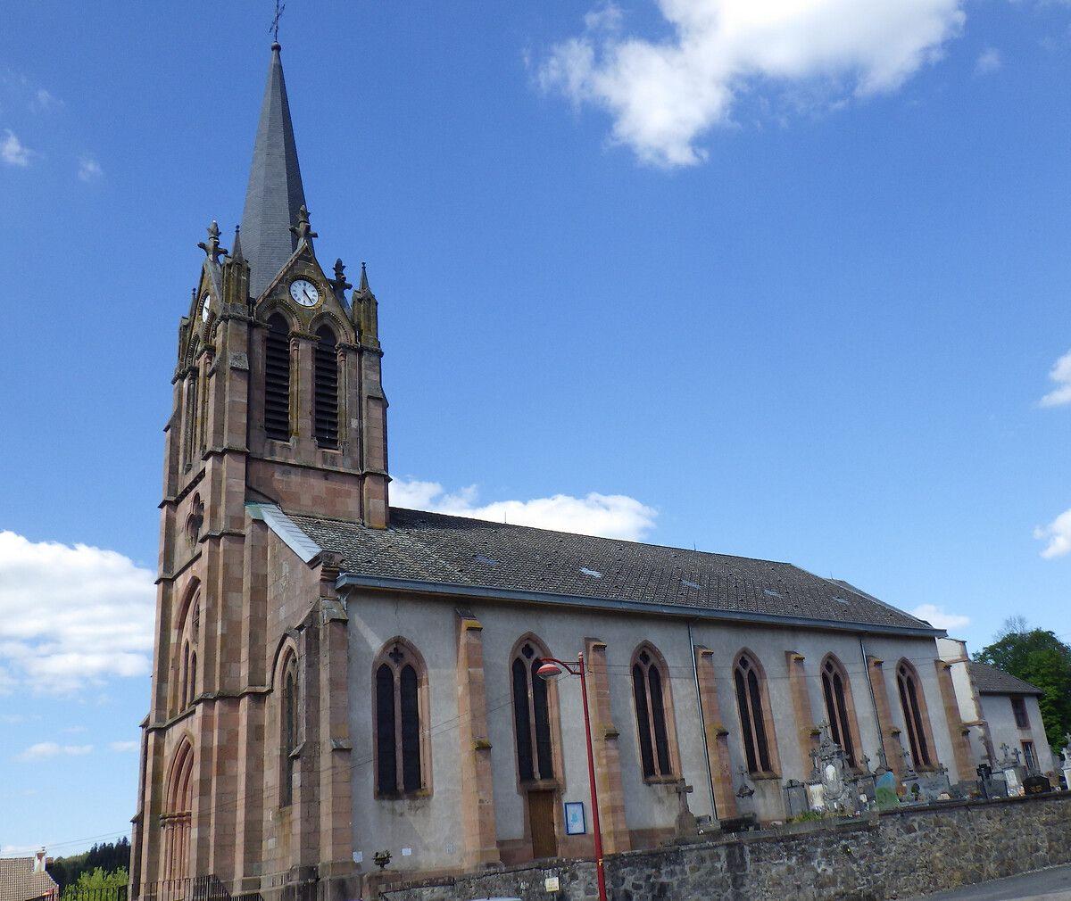 Beffroi de l'église de Ban-de-Laveline dans les Vosges