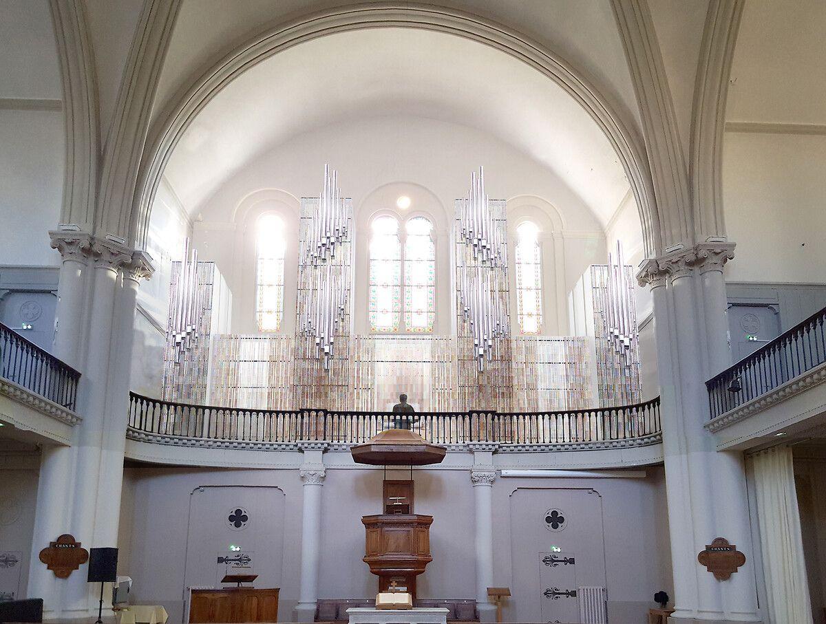 L'orgue du tempe de la rue Maguelone à Montpellier