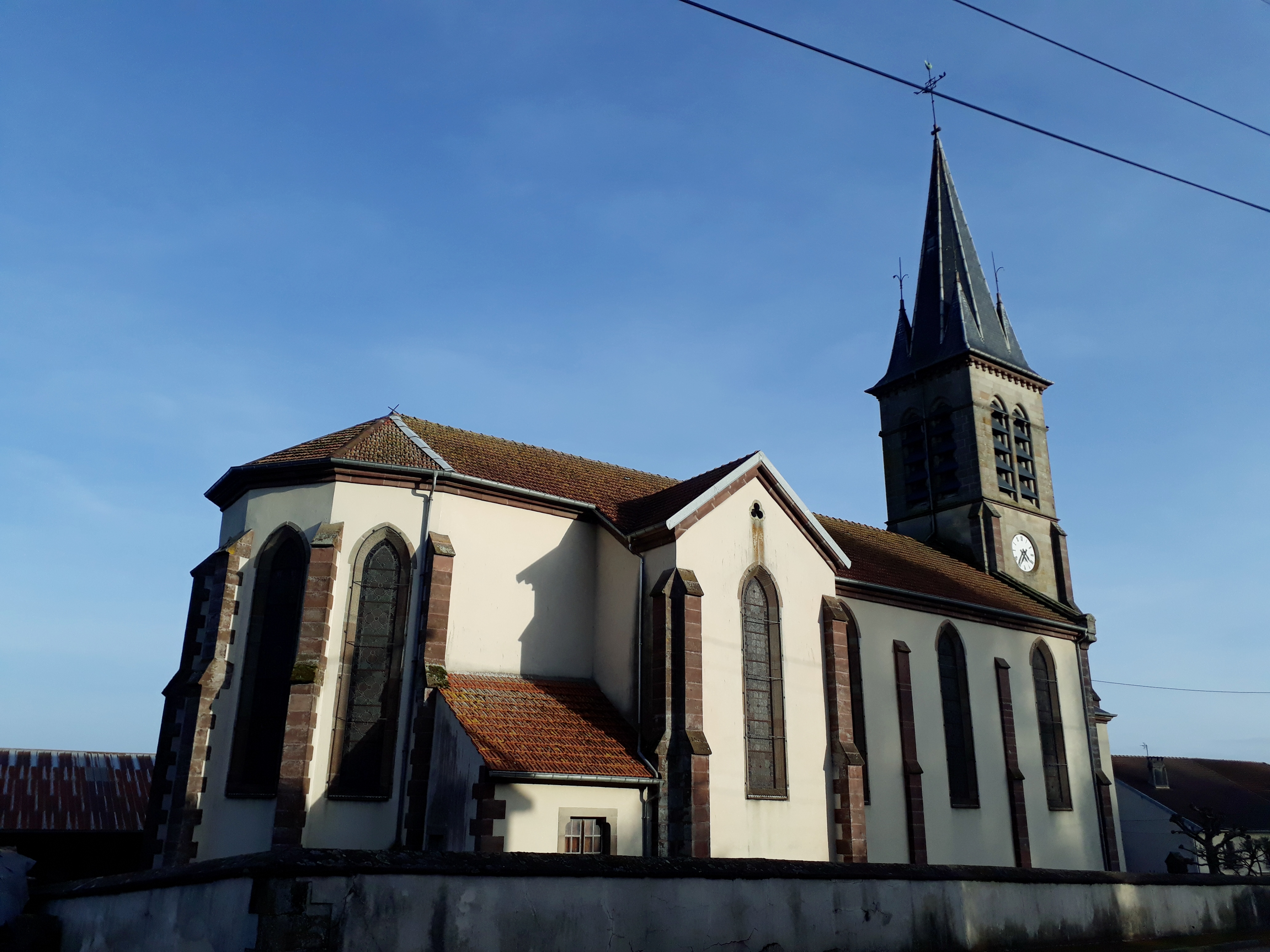 Eglise de Provenchères-lès-Darney dans les Vosges