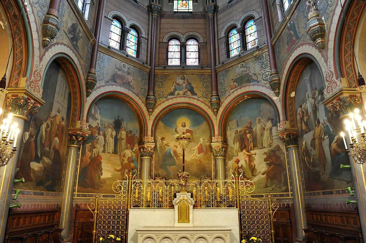 Les décors peints du chœur de l'église Saint-Clodoald
