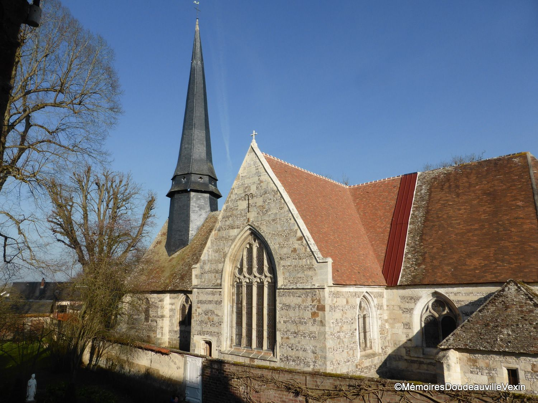 L'église Saint-Aubin à Doudeauville en Vexin