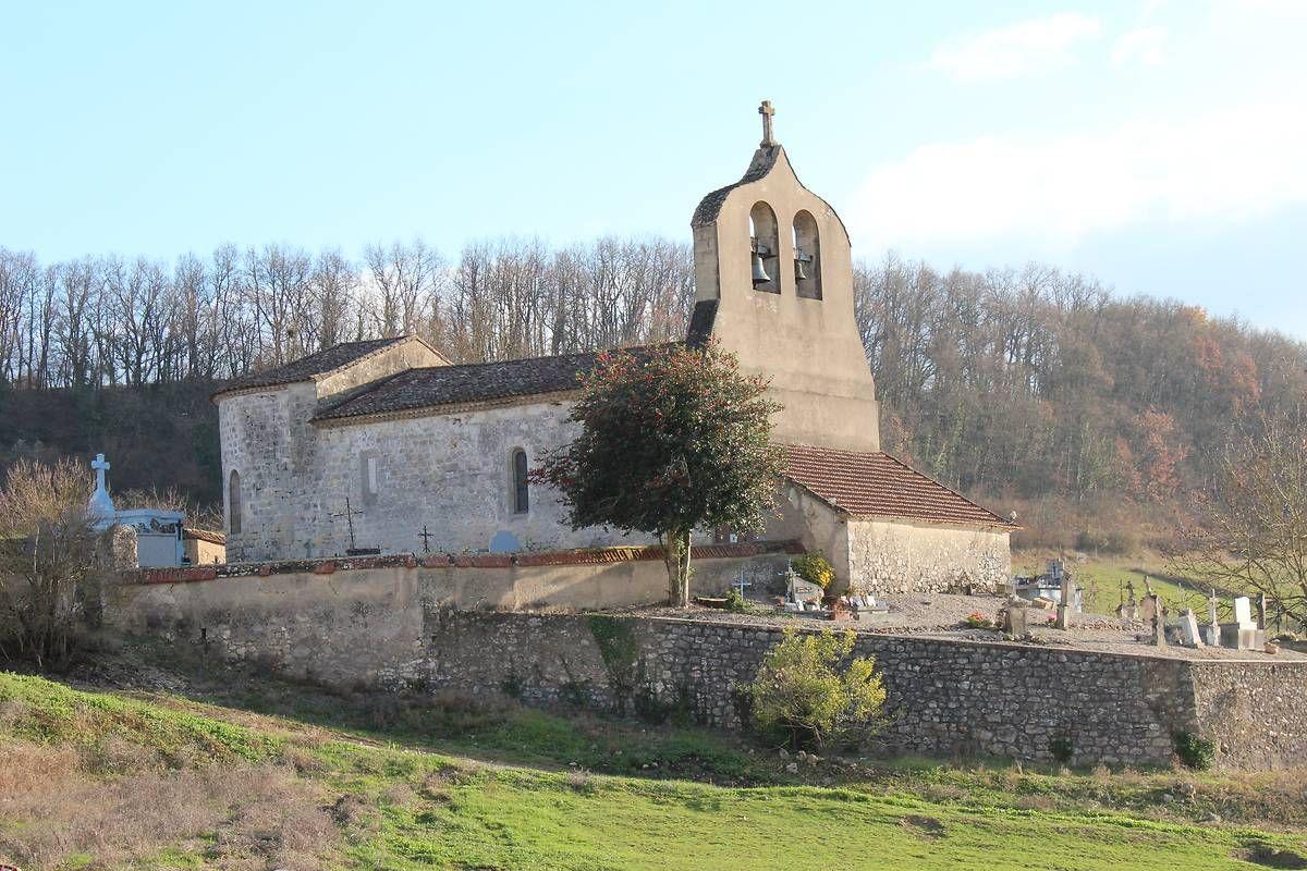Eglise Saint-Pierre aux Liens de Cailladelles à Castelnaud de Gratecambe