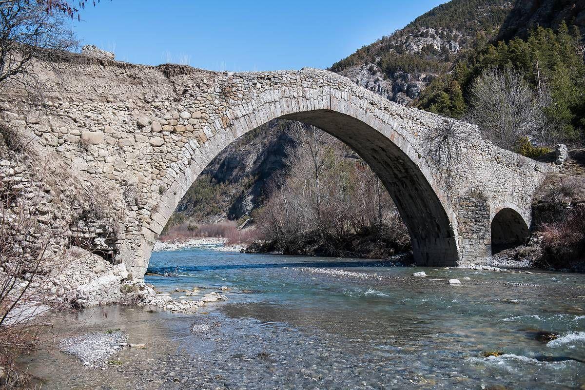 Pont du Moulin-ancien Pont d'Ondres à Thorame Haute