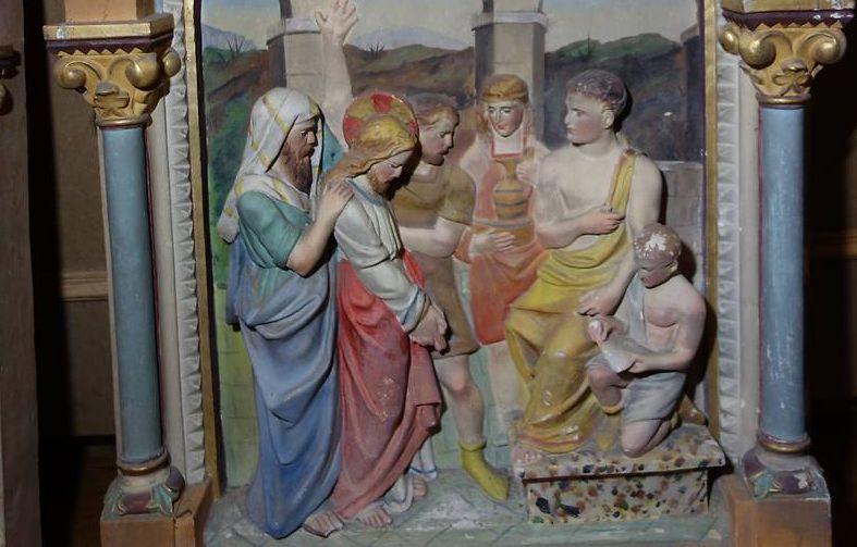 sculptures de l'église de pujaudran