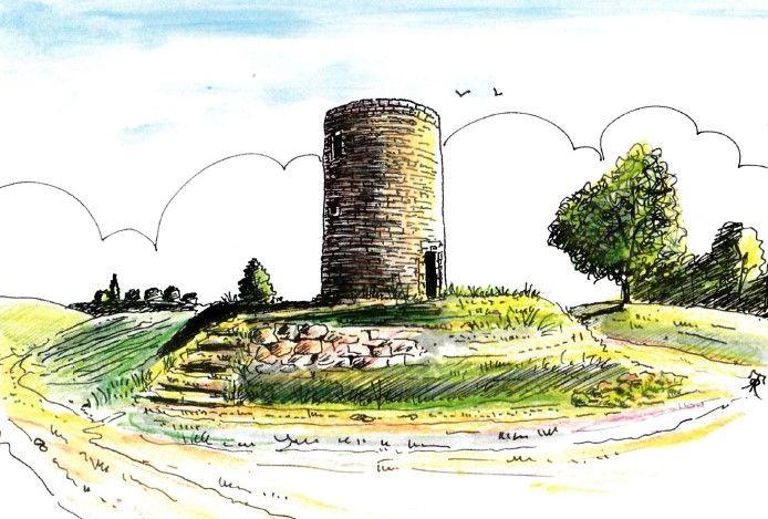Carte postale Moulin de Citole