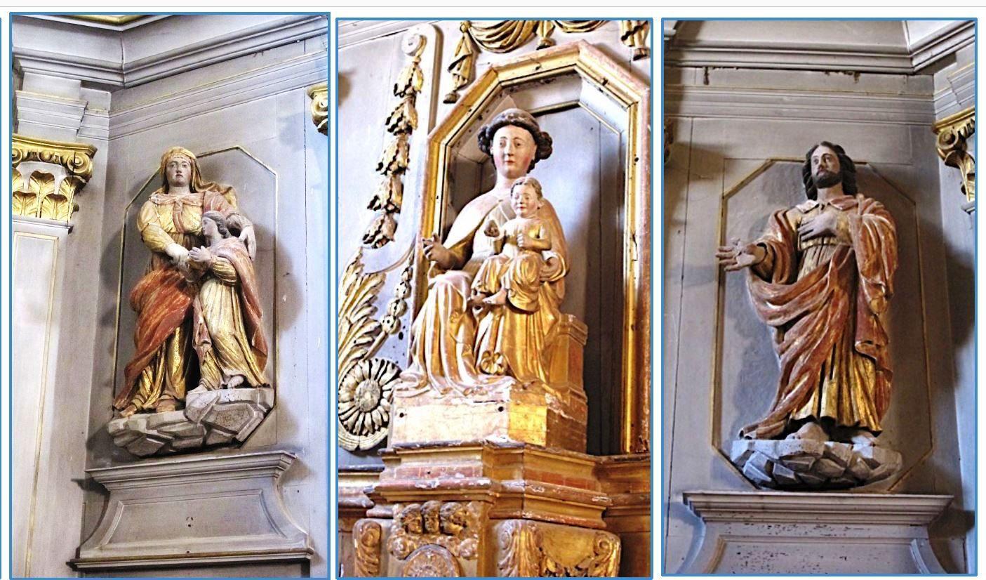Vierge nattée de l'église de Saint-Morillon