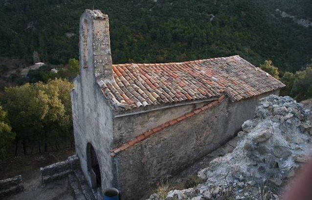 vue extérieure de la chapelle de châteauvieux