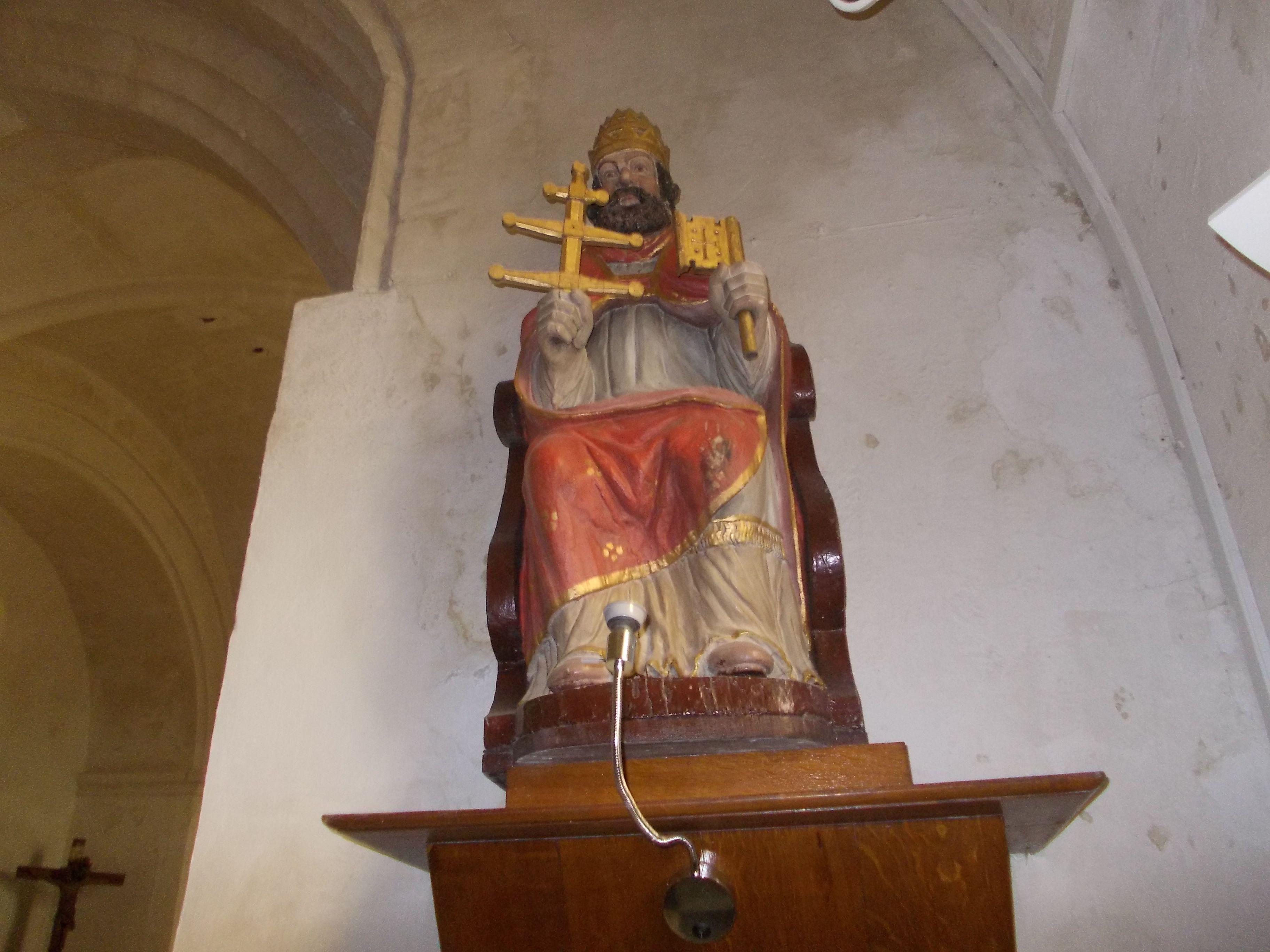 vue de la statue à restaurer