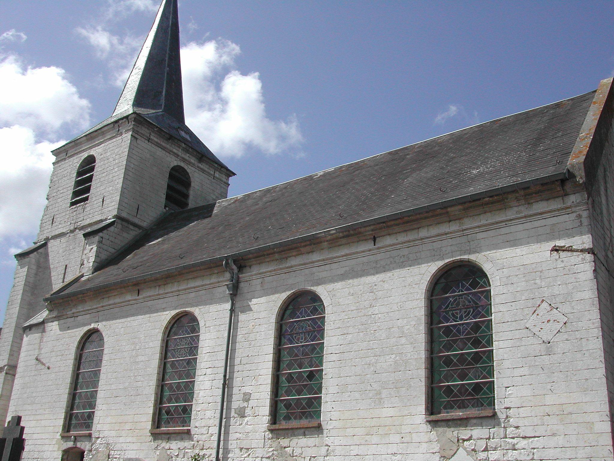 vue sur la nef et le clocher