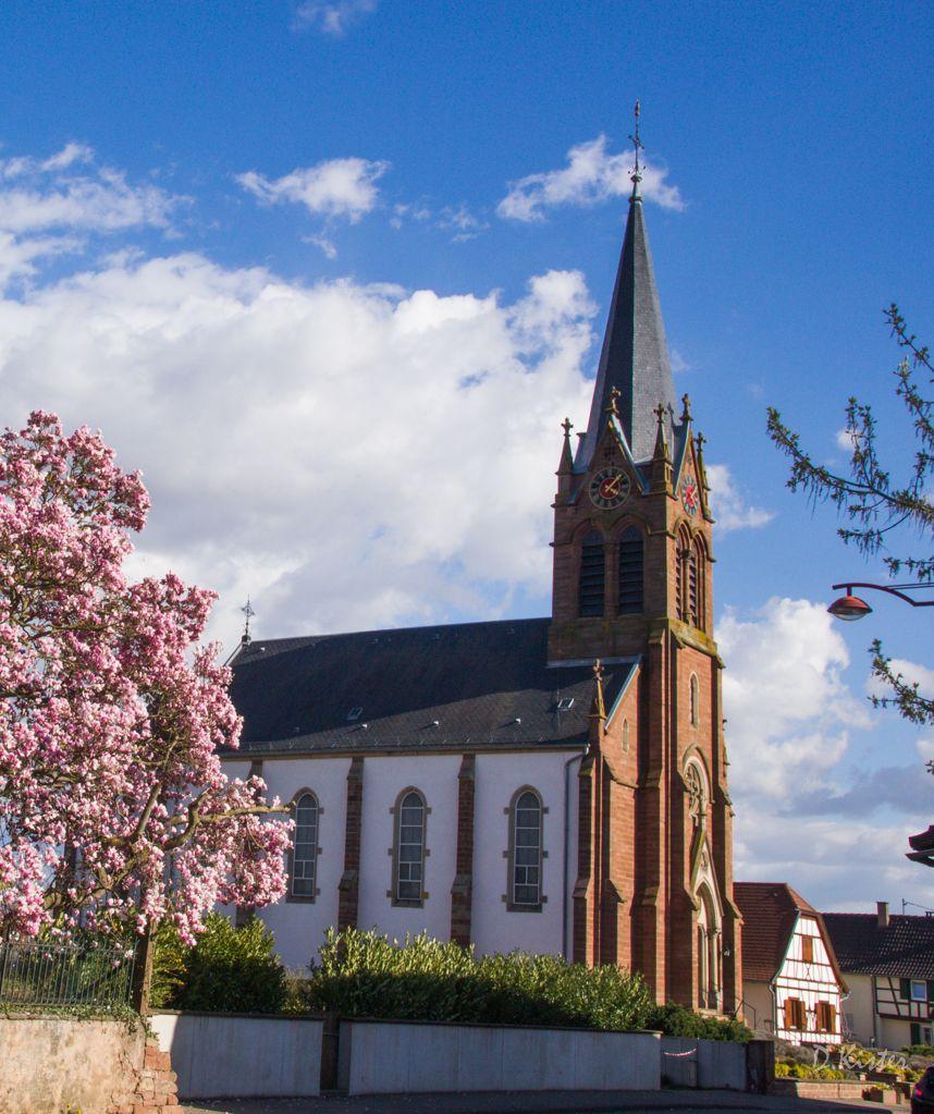 Statues et tableaux de l'église de Wiwersheim