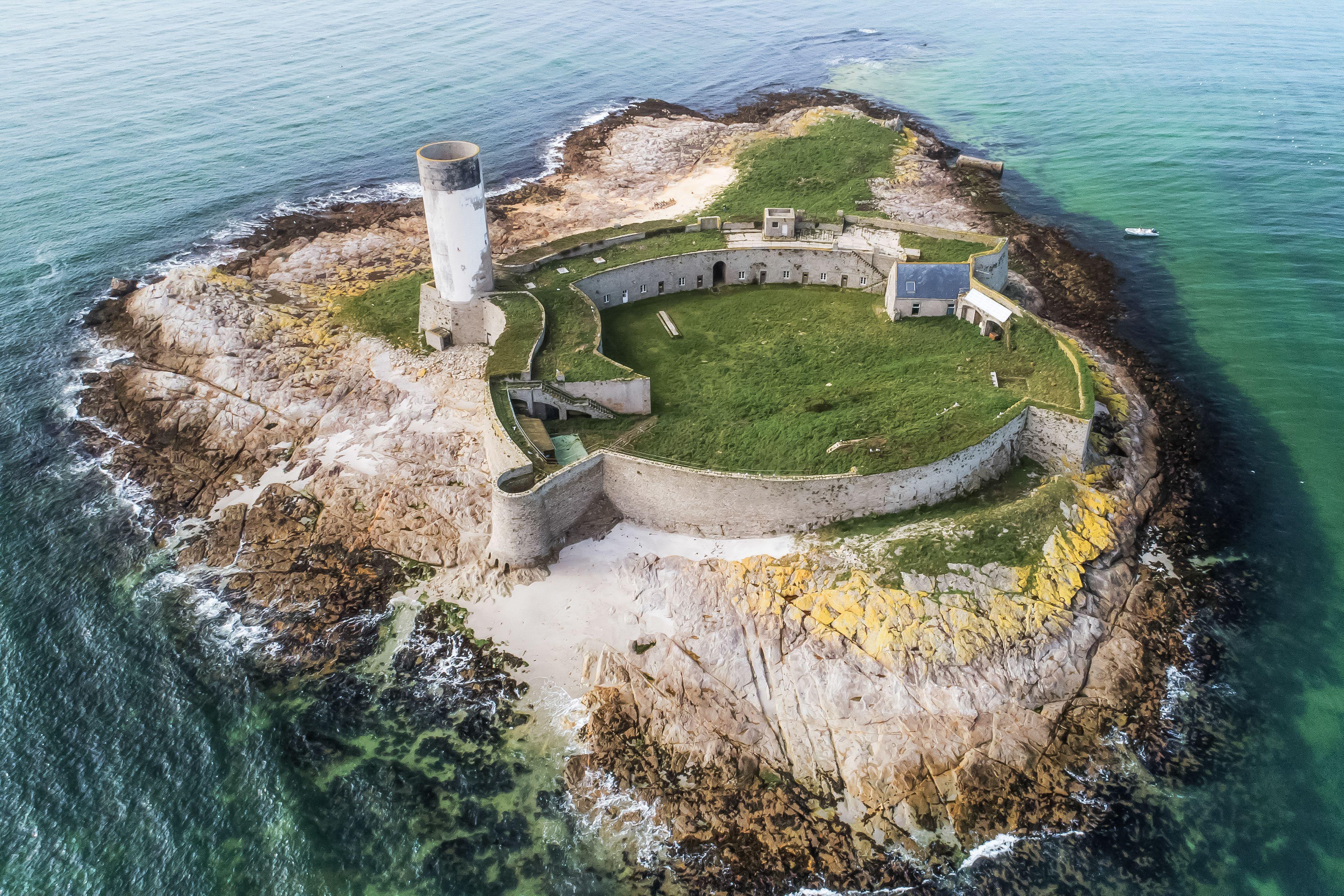 Fort Cigogne dans l'archipel des Glénan (Finistère)