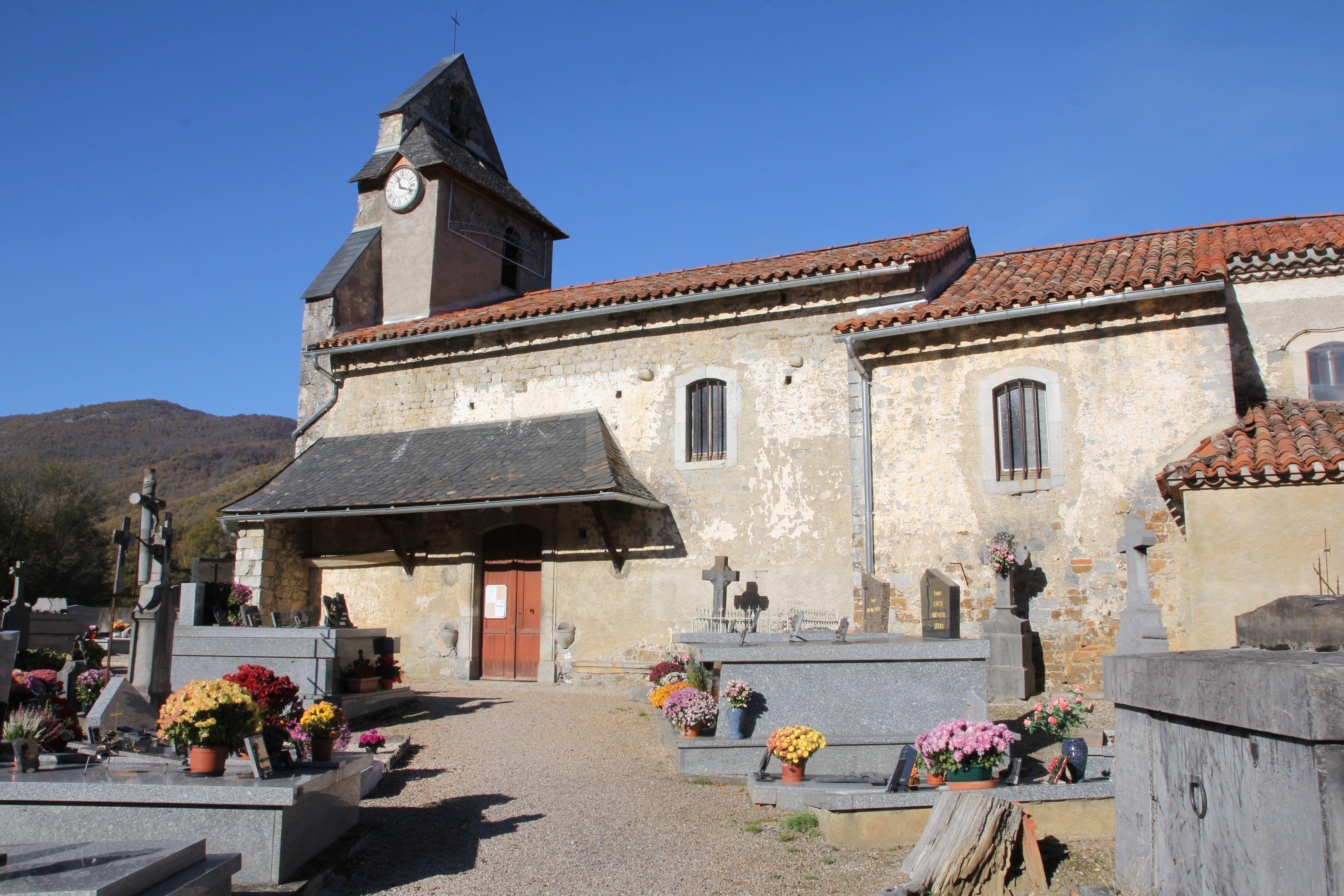 Église Saint-Jacques d'Aubert à Moulis en Ariège