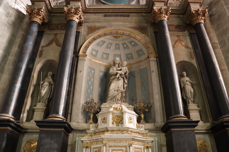 Retable de la chapelle de la vierge de l'église de Dourdan