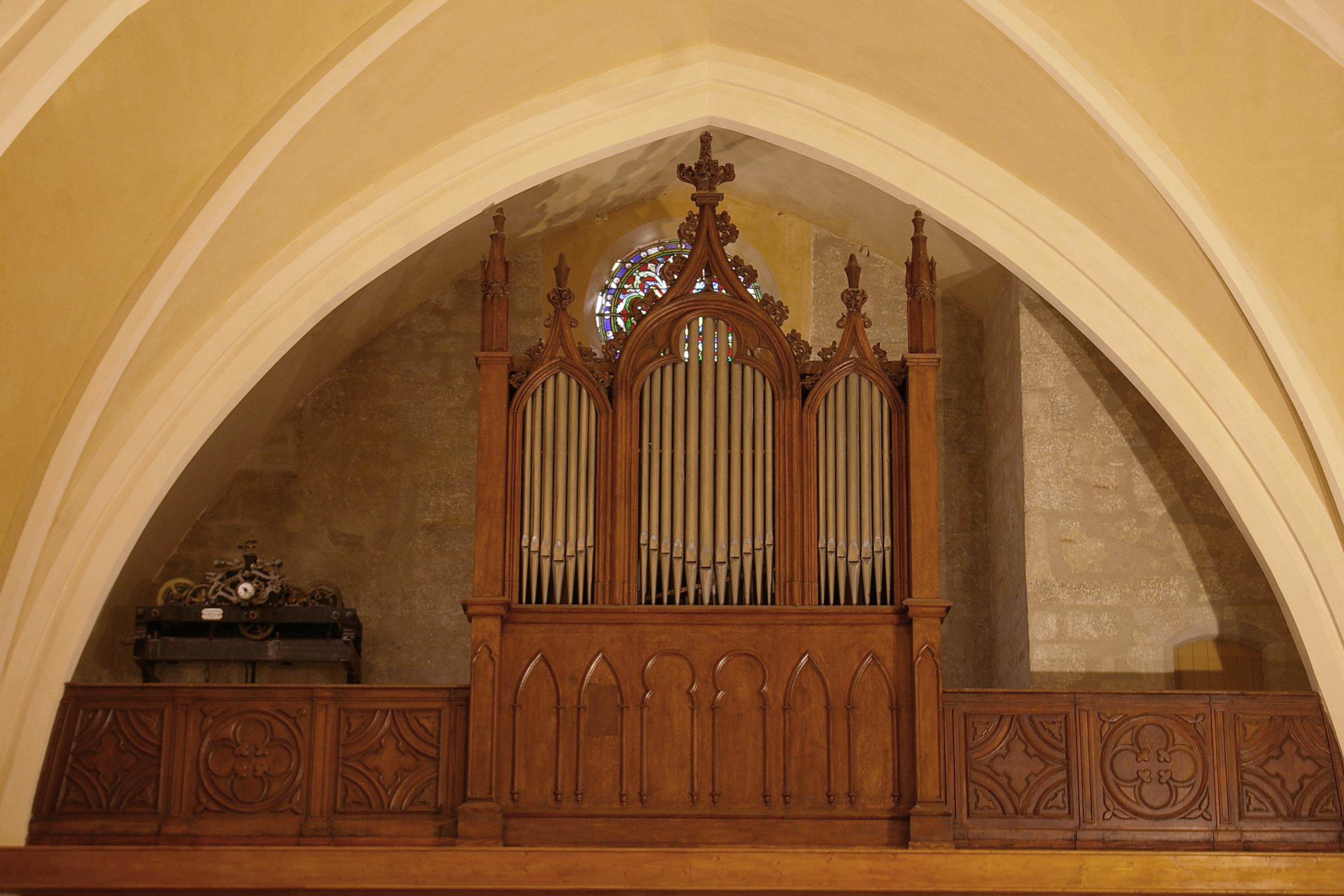 L'orgue de l'église de Saint-Michel de Lanès