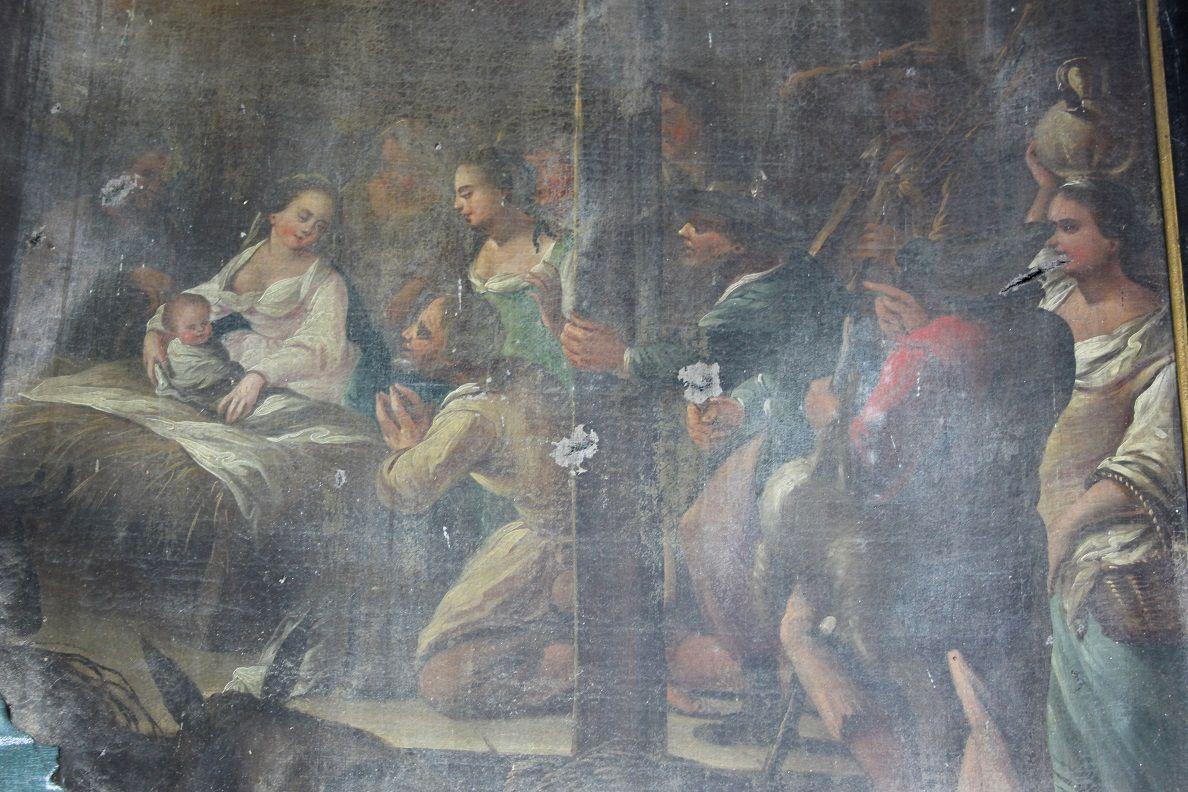"tableau de ""la nativité"" - eglise saint-martin de steene"