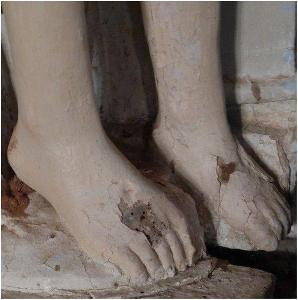 Détail de la Pietà d'Aigné