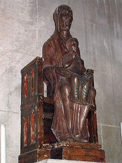 Statue de la Vierge à l'enfant - Meillers