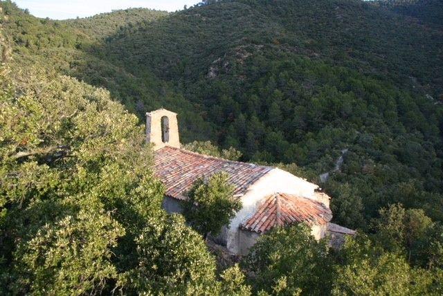 Vue aérienne de la chapelle