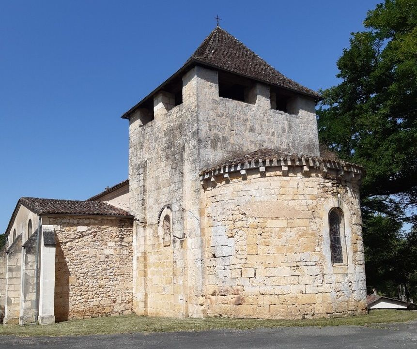 Eglise de Saint-Jean-d'Eyraud à Eyraud Crempse Maurens