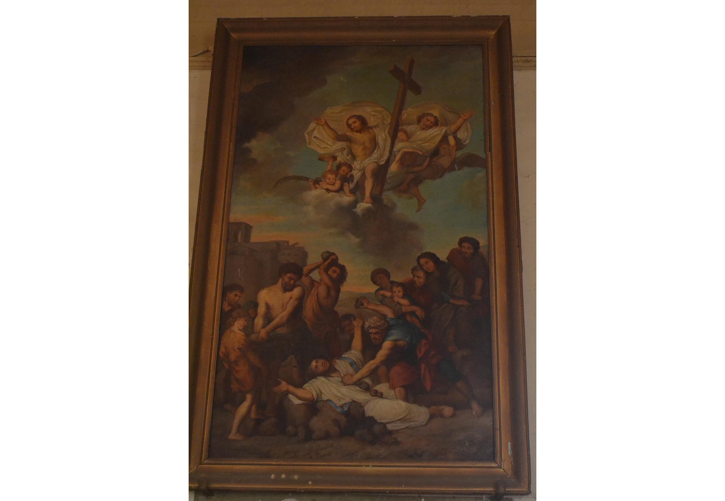 Tableau SIS en l'église Saint-Etienne-de-Lamarque à Lagruère