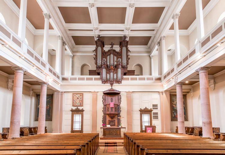 orgue stiehr-mockers de l'église protestante de riquewihr