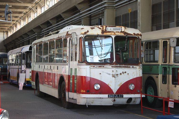 Trolleybus Vétra VBR-H au musée histo bus dauphinois