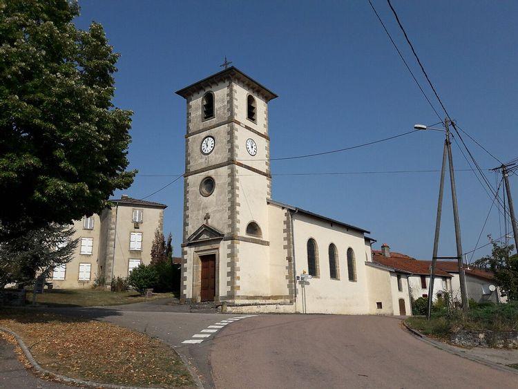 Eglise de Domèvre-sous-Montfort dans les Vosges