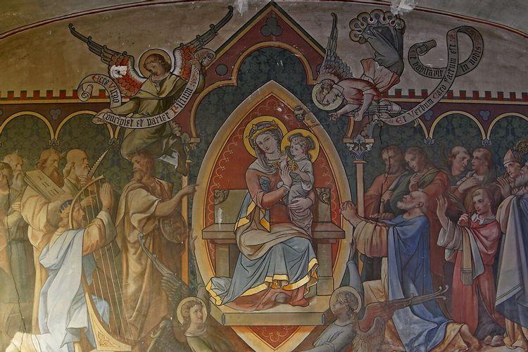 La vierge - petite salle des catéchismes à Gouvernes