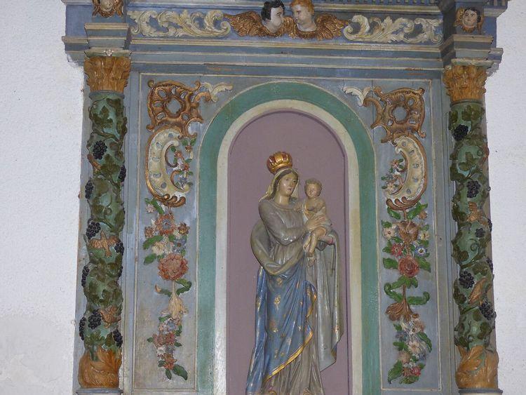 Retable de la Vierge à l'Enfant de Bazoilles-et-Ménil dans les Vosges