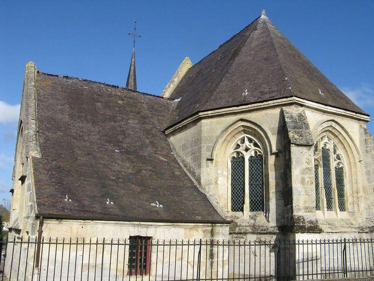 Eglise Saint-Denis d'Andelain dans l'Aisne