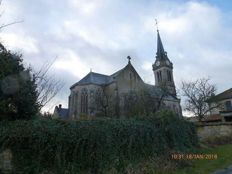 Eglise Saint-Clément de Broussey-Raulecourt en Meuse