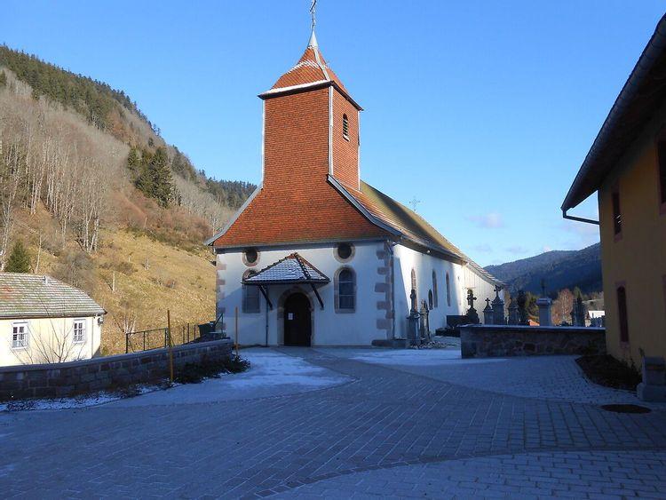 Clocher de l'église du Valtin dans les Vosges