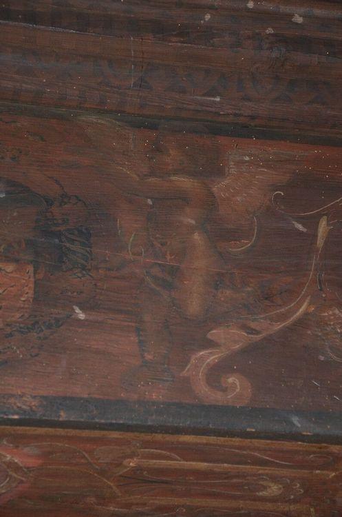 Plafond peint de l'école Saint-Joseph à Beauzac
