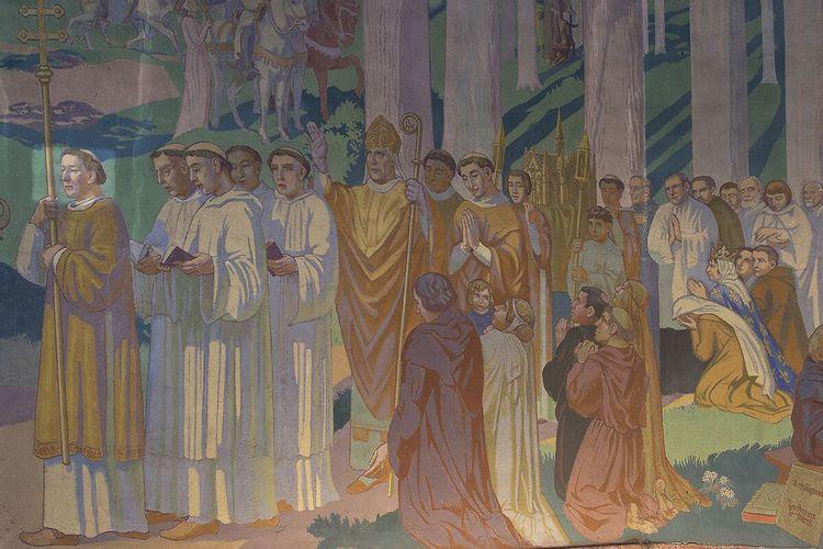 peinture murale, église saint-louis à vincennes