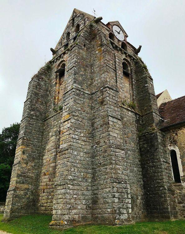 Clocher de l'église Saint-Martin de Montmachoux