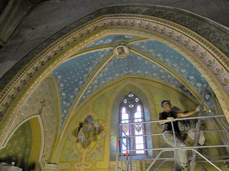 Coupole en cours de restauration - Cazères-sur-l'Adour