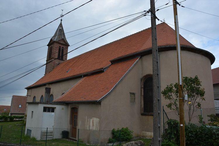 Eglise Saint-Etienne de Danne-et-Quatre-Vents en Moselle