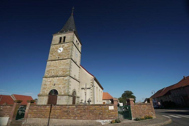Eglise Sainte Barbe de Biding en Moselle