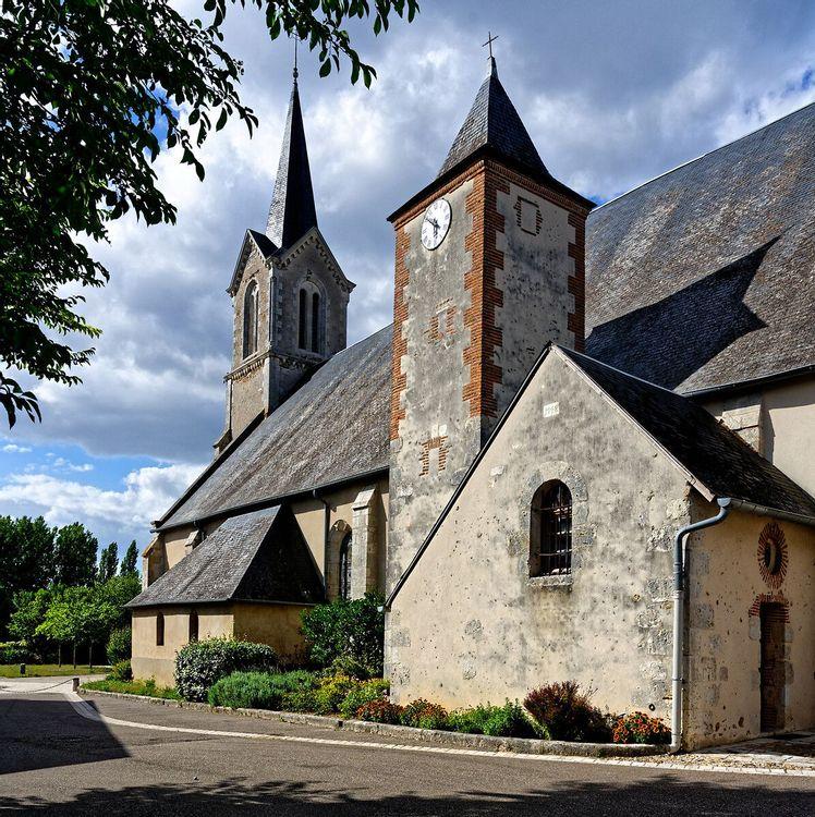 Eglise de Saint-Gondon dans le Loiret