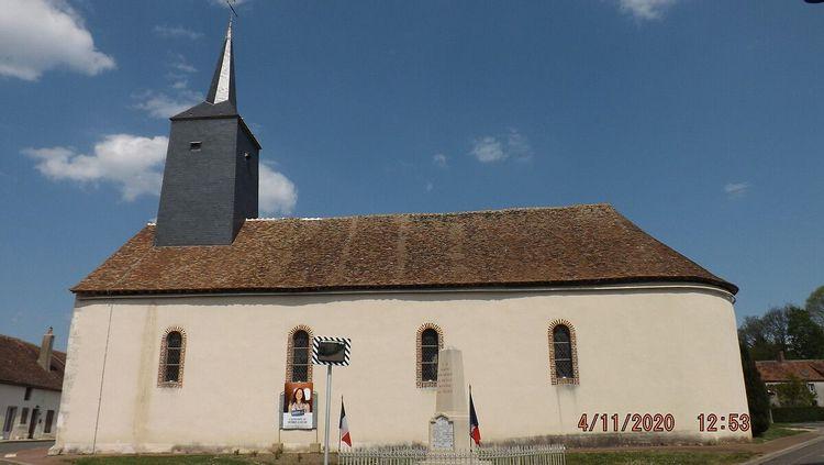 Eglise de Batilly-en-Puisaye dans le Loiret