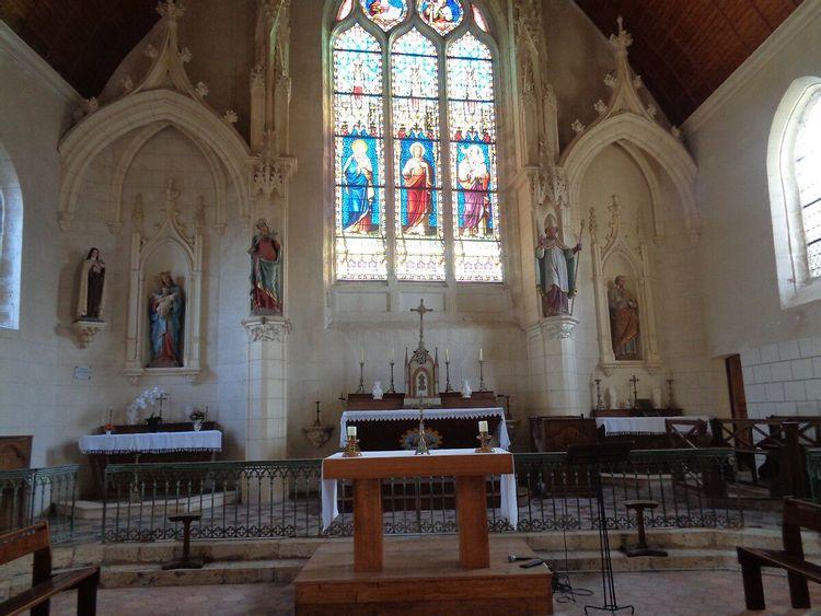 Eglise Ste Christine de Villiers Saint Orien en Eure-et-Loir