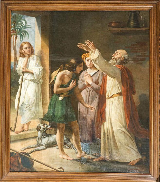 Tableau « Le départ de Tobie pour Ecbatane » dans l'église d'Essey-lès-Nancy