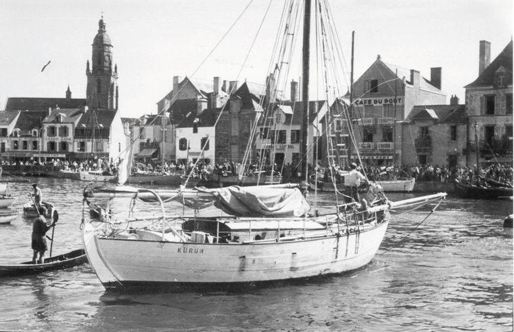 7 juillet 1952, arrivée du Krurun au Croisic