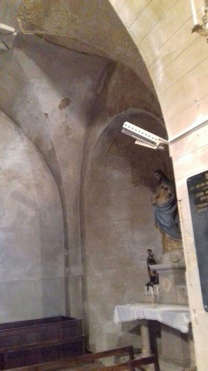 Intérieur de l'église de Dorat