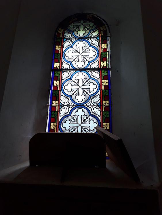Détail vitraux de la chapelle