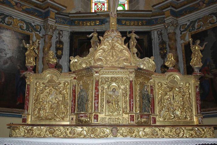Eglise et tabernacle de Camon dans l'Ariège