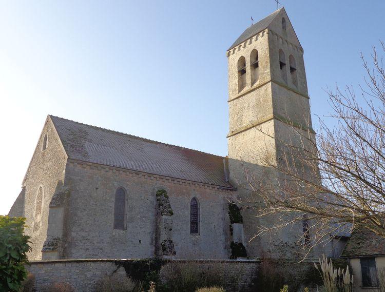 Eglise Saint Laurent d'Intréville en Eure-et-Loir