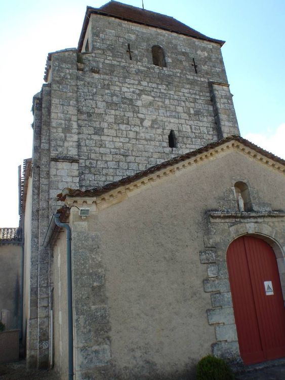 Vue porte église