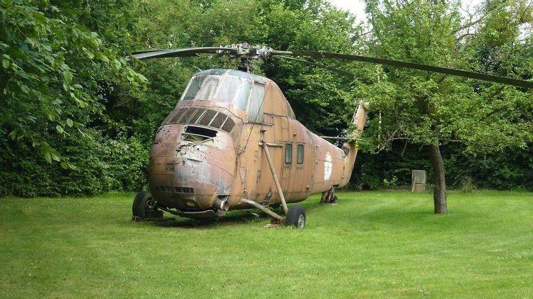 hélicoptère sikorsky h34-a sa55 à saint-michel-en-l'herm